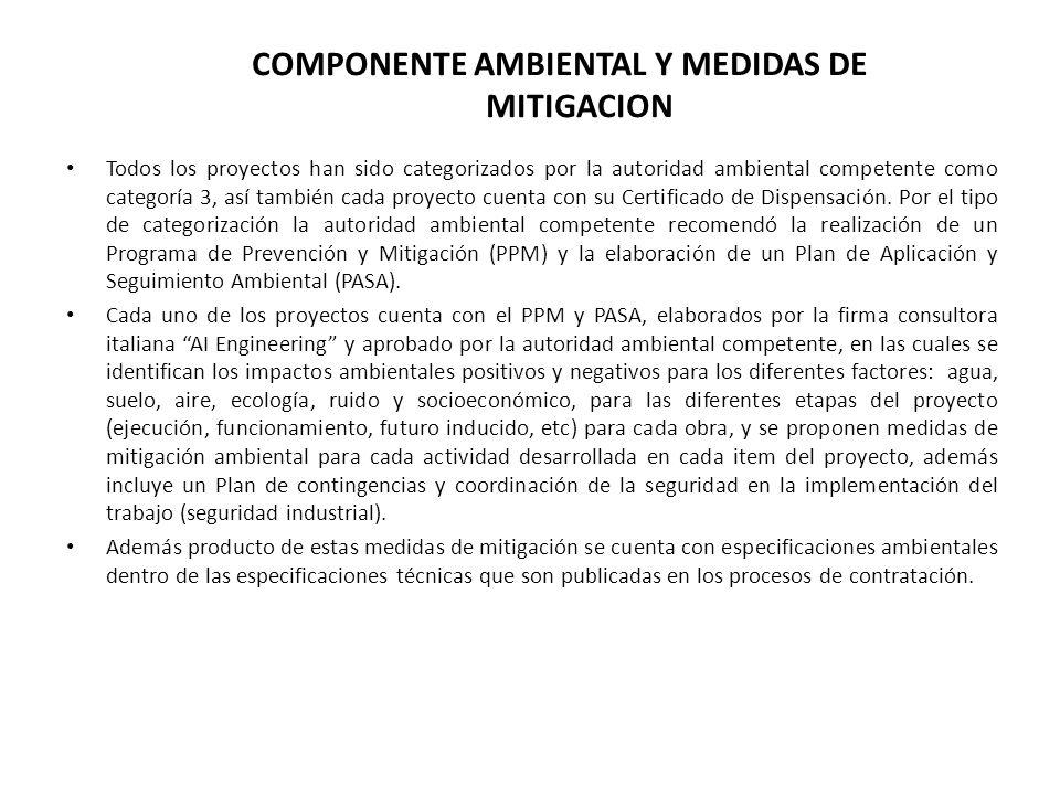 COMPONENTE AMBIENTAL Y MEDIDAS DE MITIGACION