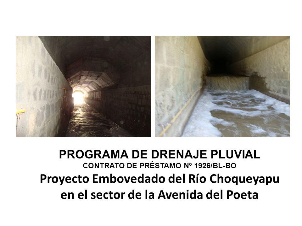 PROGRAMA DE DRENAJE PLUVIAL CONTRATO DE PRÉSTAMO Nº 1926/BL-BO