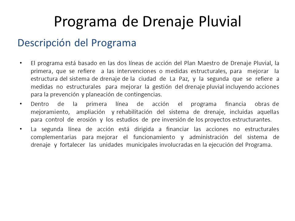Programa de Drenaje Pluvial