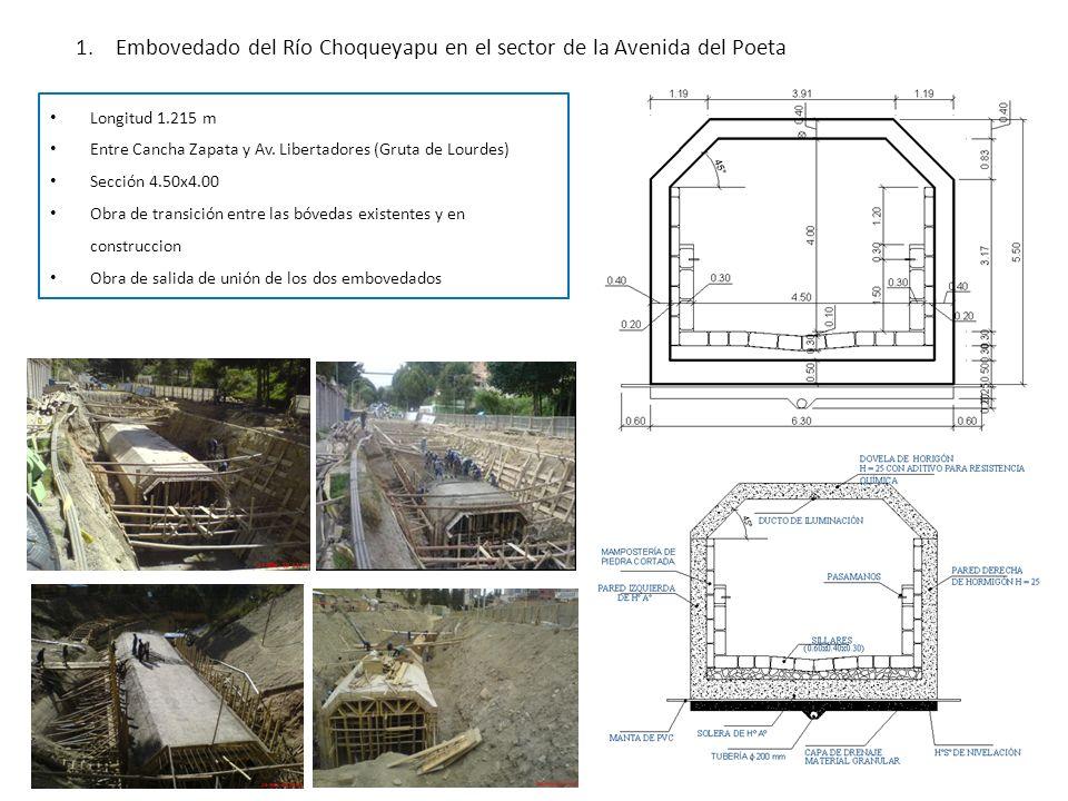 Embovedado del Río Choqueyapu en el sector de la Avenida del Poeta