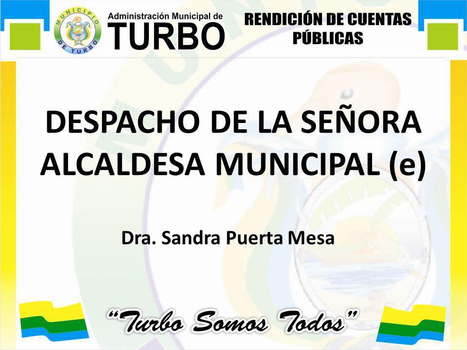 DESPACHO DE LA SEÑORA ALCALDESA MUNICIPAL (e)