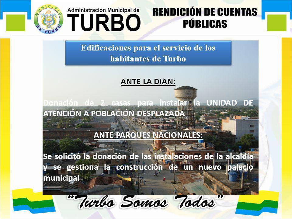 Edificaciones para el servicio de los habitantes de Turbo