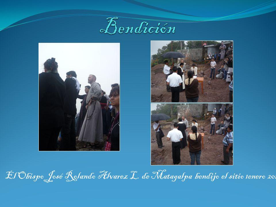 Bendición El Obispo José Rolando Alvarez L. de Matagalpa bendijo el sitio 1enero 2013