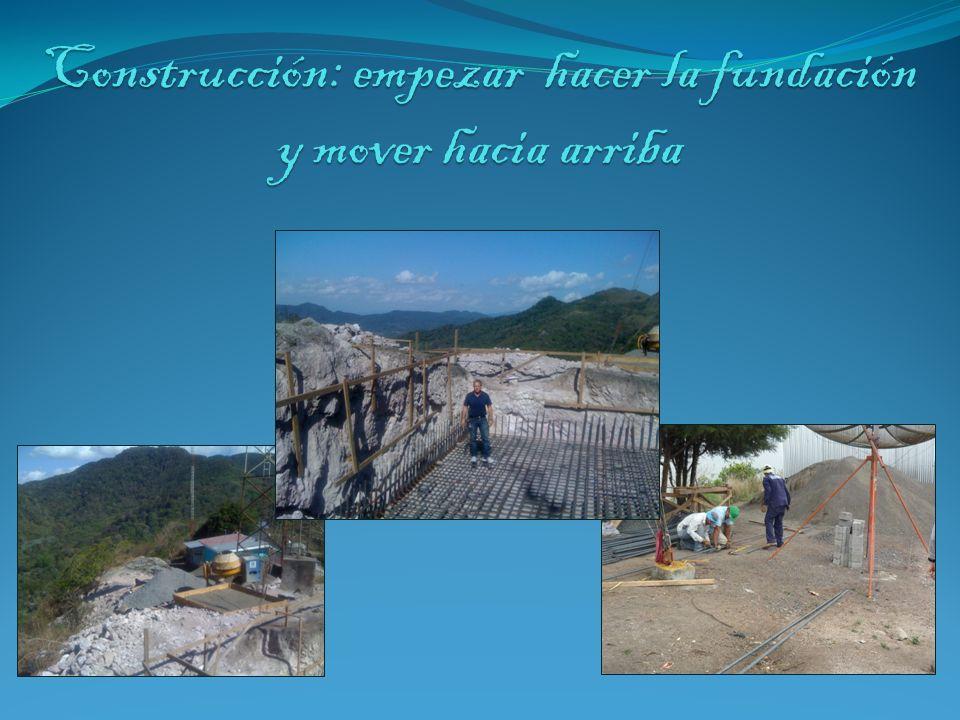Construcción: empezar hacer la fundación y mover hacia arriba