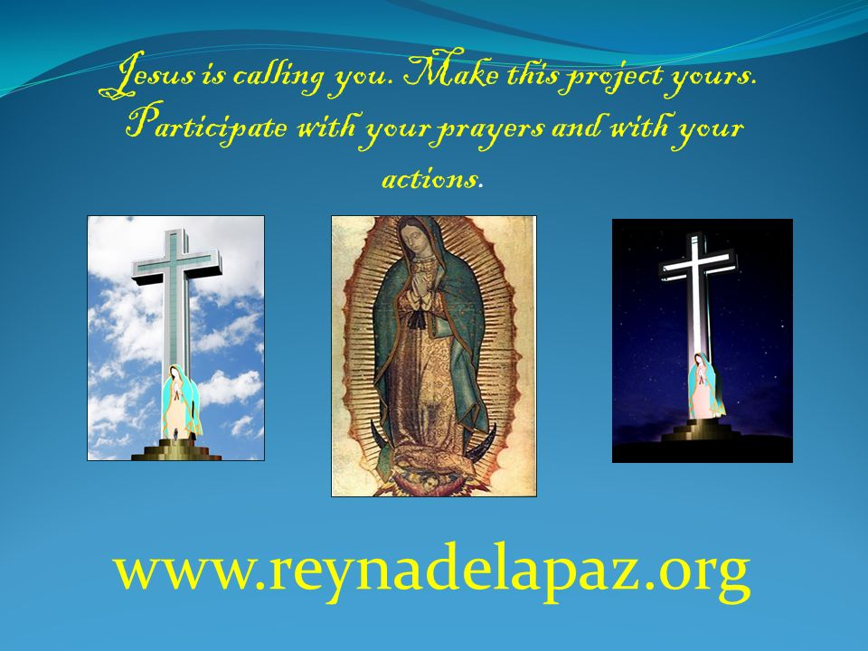 Jesus is calling you. Make this project yours