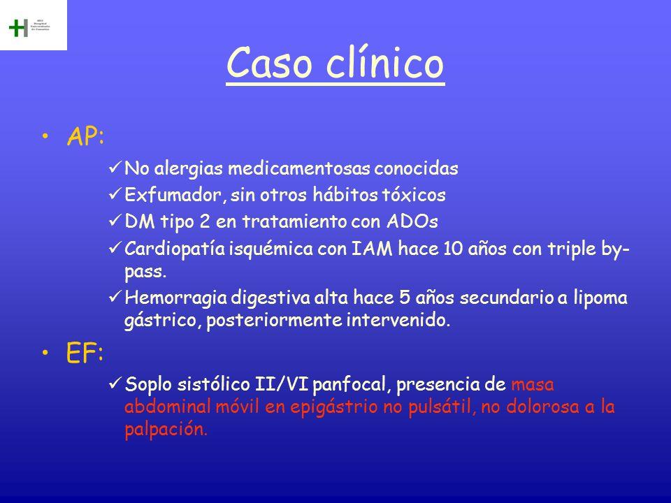 Caso clínico AP: EF: No alergias medicamentosas conocidas