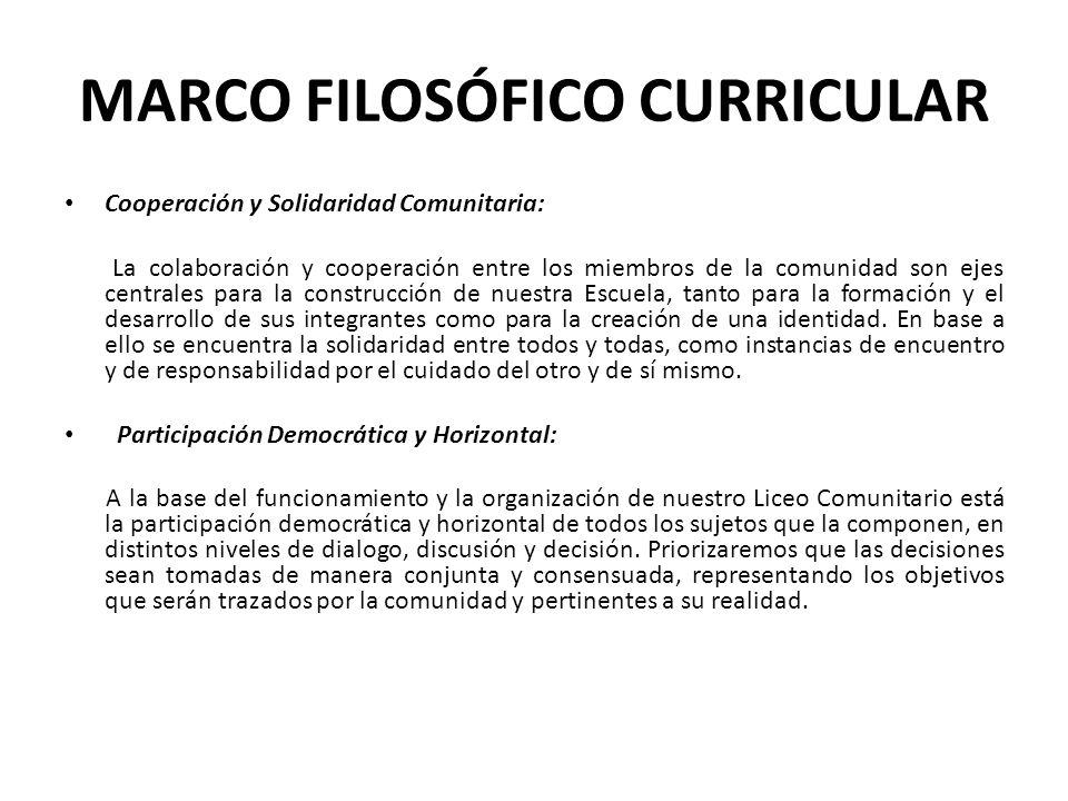 MARCO FILOSÓFICO CURRICULAR