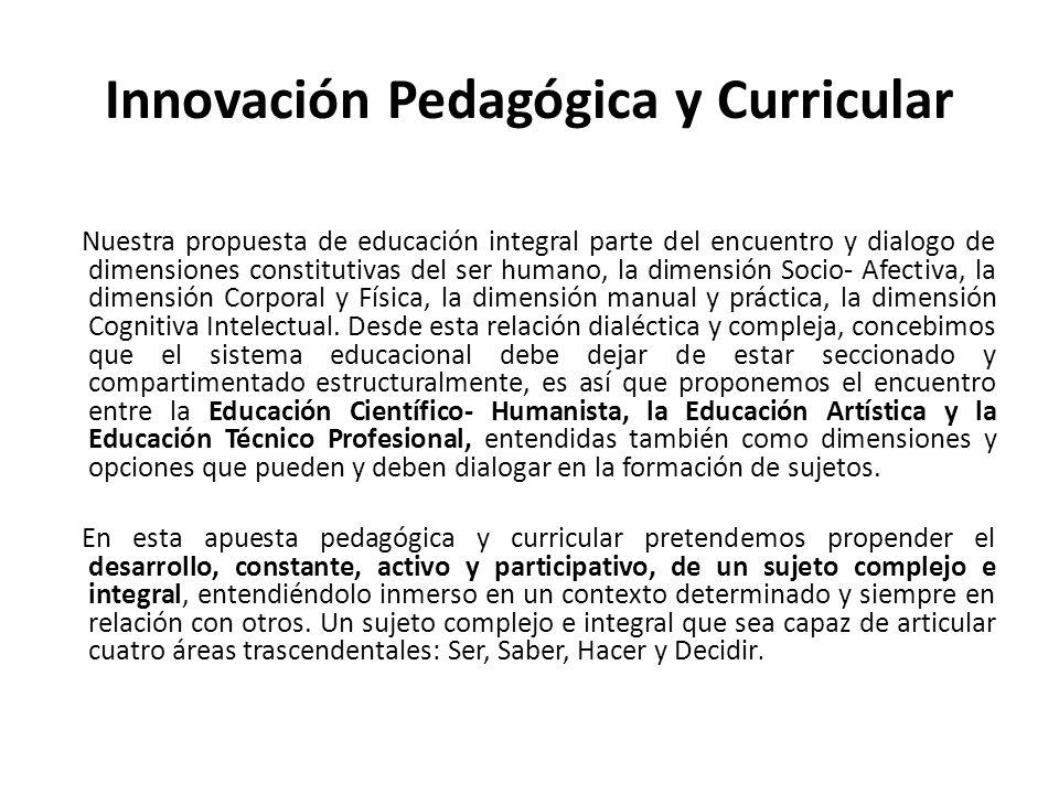 Innovación Pedagógica y Curricular