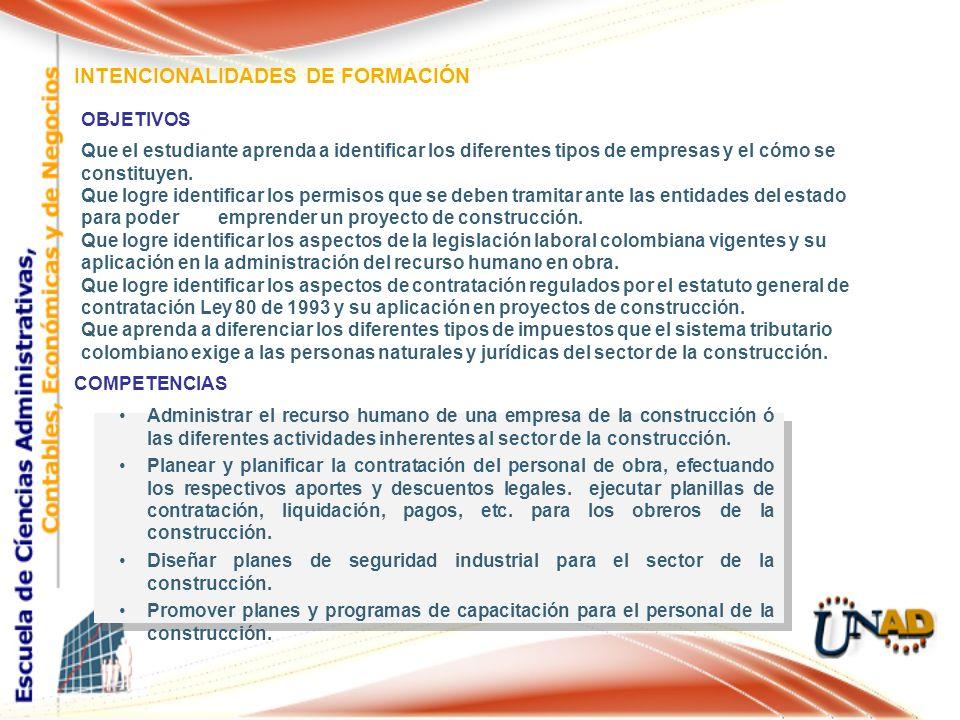 INTENCIONALIDADES DE FORMACIÓN