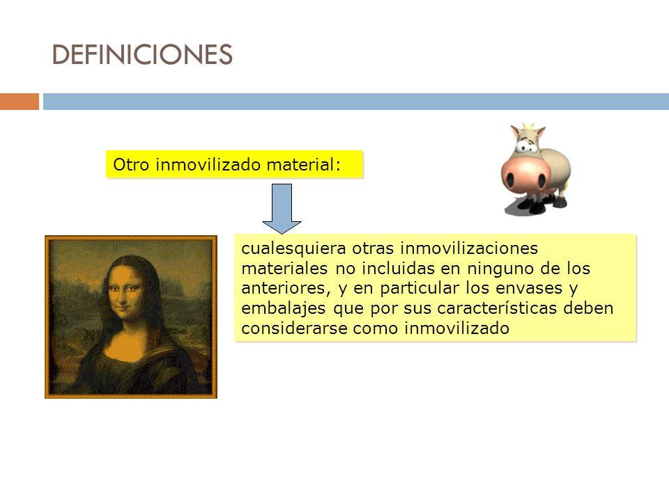DEFINICIONES Otro inmovilizado material: