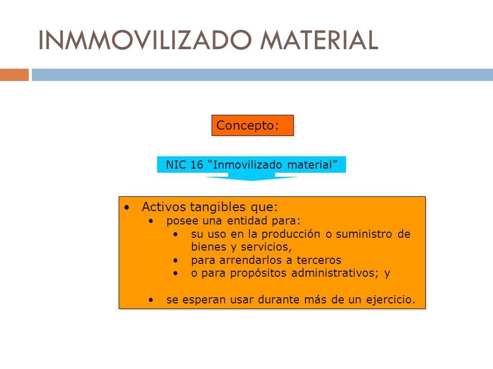 INMMOVILIZADO MATERIAL