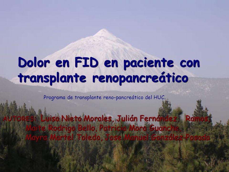 Dolor en FID en paciente con transplante renopancreático