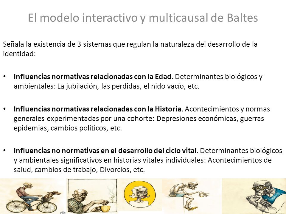 El modelo interactivo y multicausal de Baltes