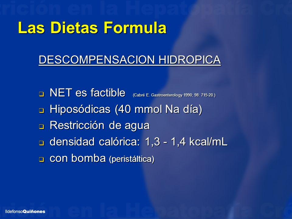 Las Dietas Formula DESCOMPENSACION HIDROPICA