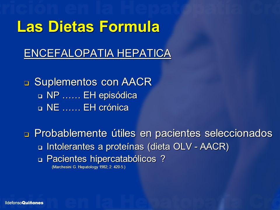 Las Dietas Formula ENCEFALOPATIA HEPATICA Suplementos con AACR