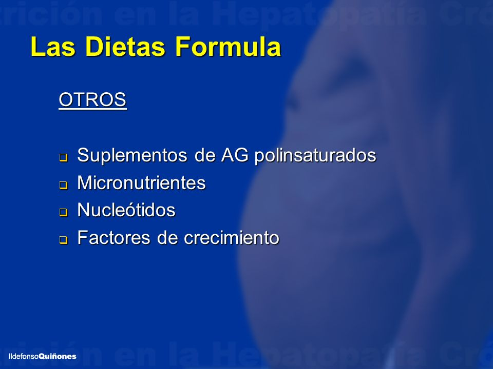 Las Dietas Formula OTROS Suplementos de AG polinsaturados