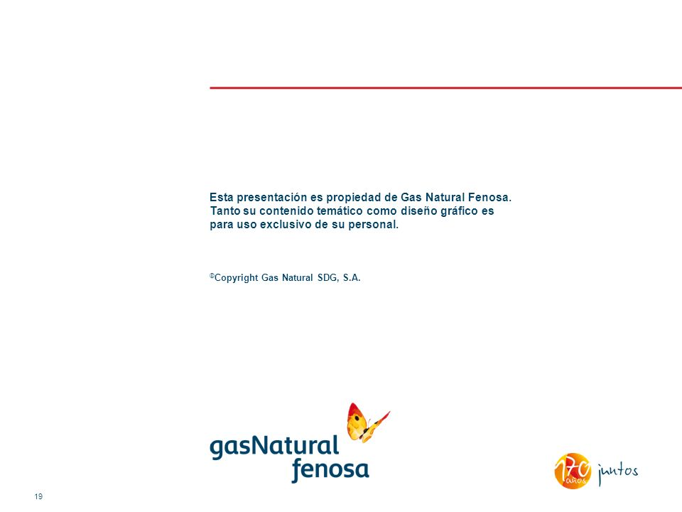 Esta presentación es propiedad de Gas Natural Fenosa