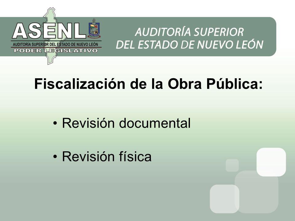 Fiscalización de la Obra Pública: