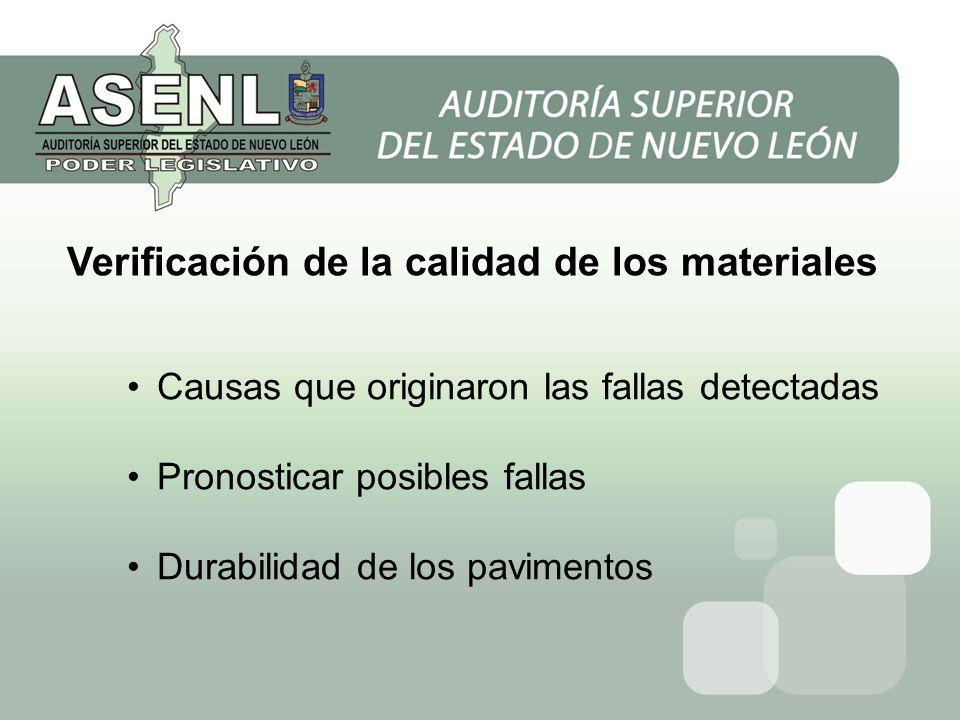 Verificación de la calidad de los materiales