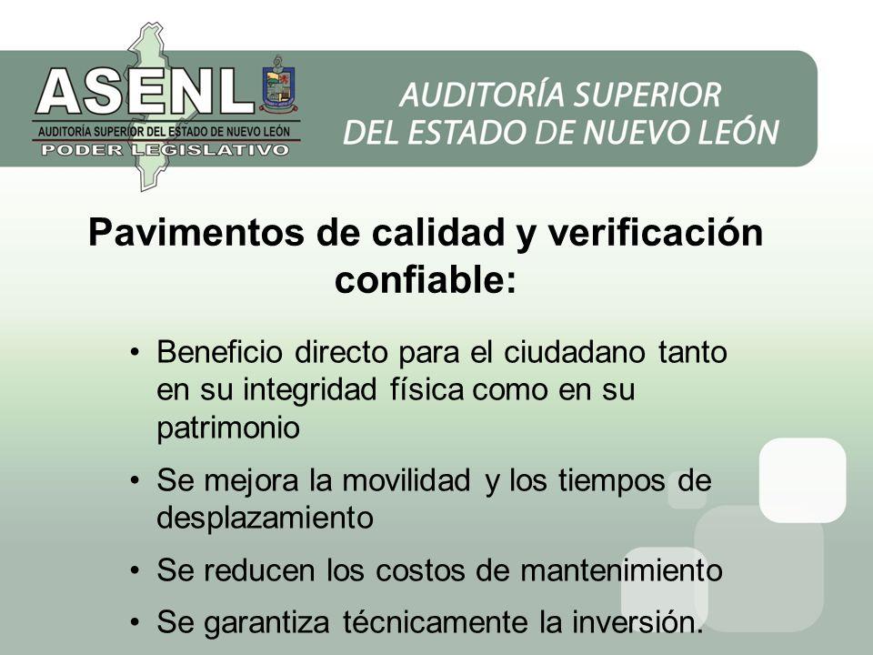 Pavimentos de calidad y verificación confiable: