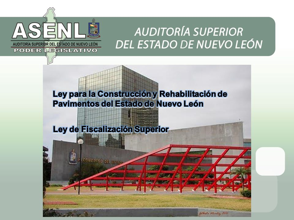 Ley para la Construcción y Rehabilitación de Pavimentos del Estado de Nuevo León
