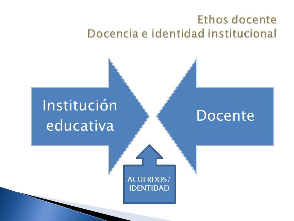 Ethos docente Docencia e identidad institucional