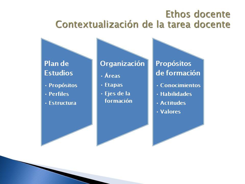 Ethos docente Contextualización de la tarea docente