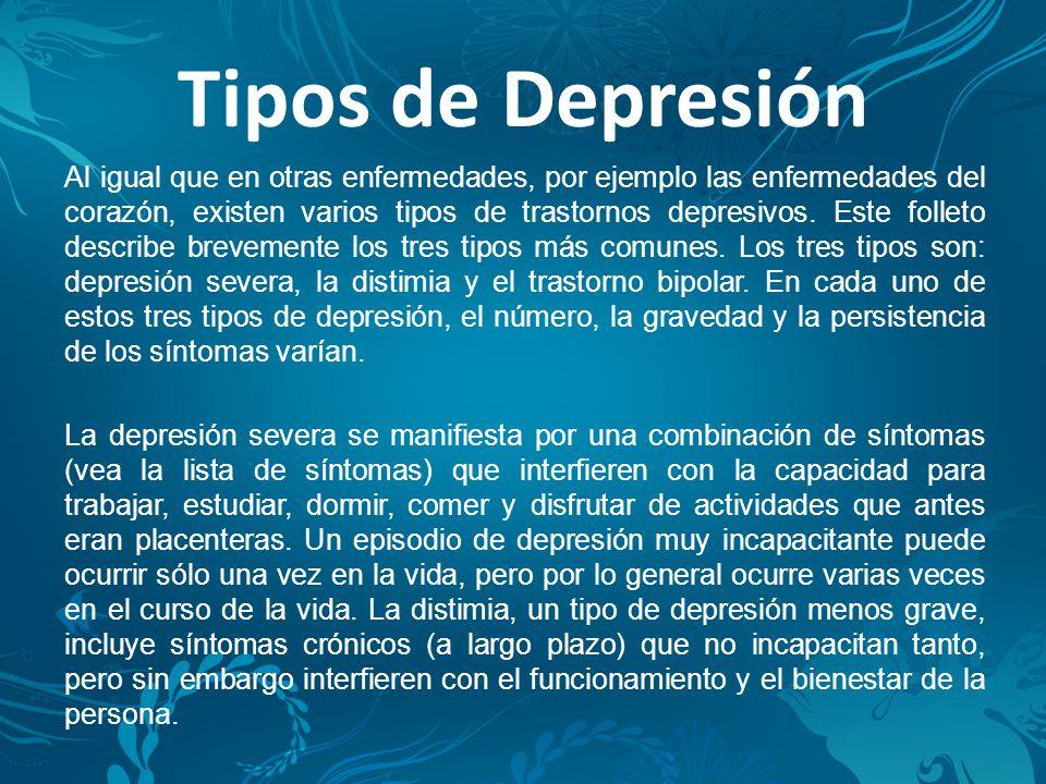 Tipos de Depresión