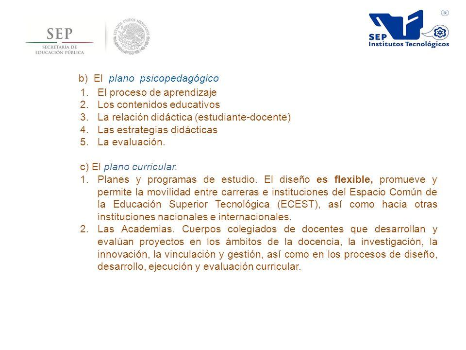 b) El plano psicopedagógico