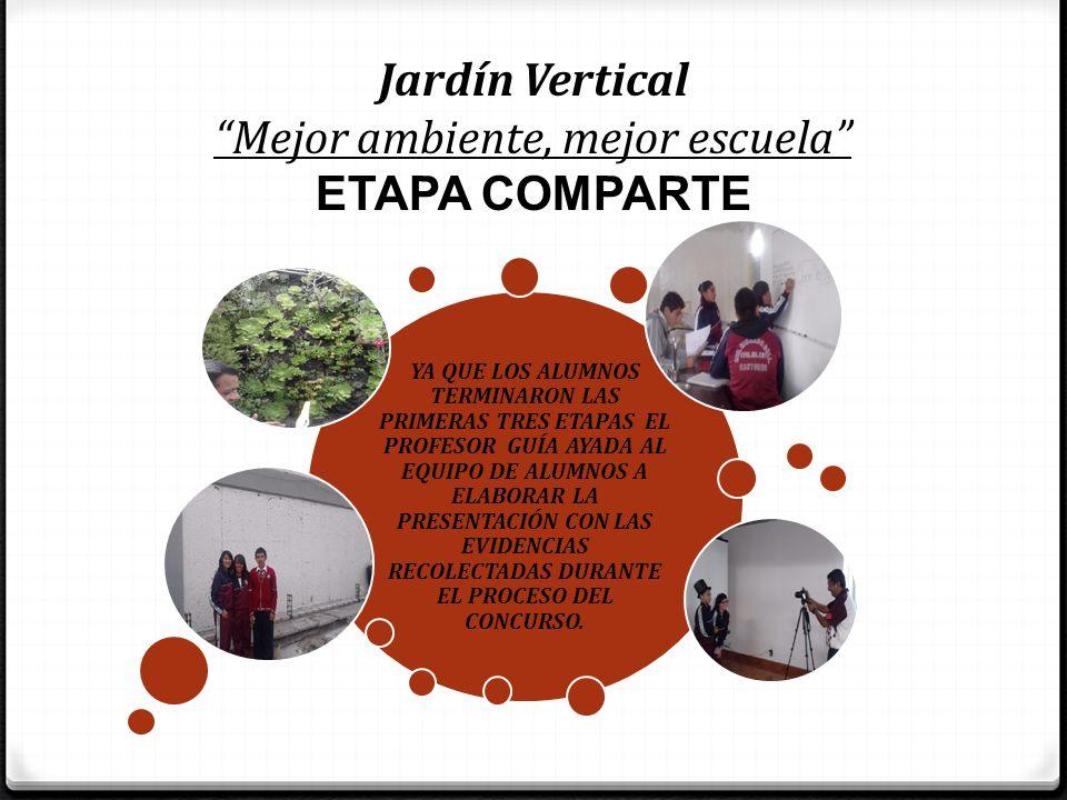 Jardín Vertical Mejor ambiente, mejor escuela ETAPA COMPARTE