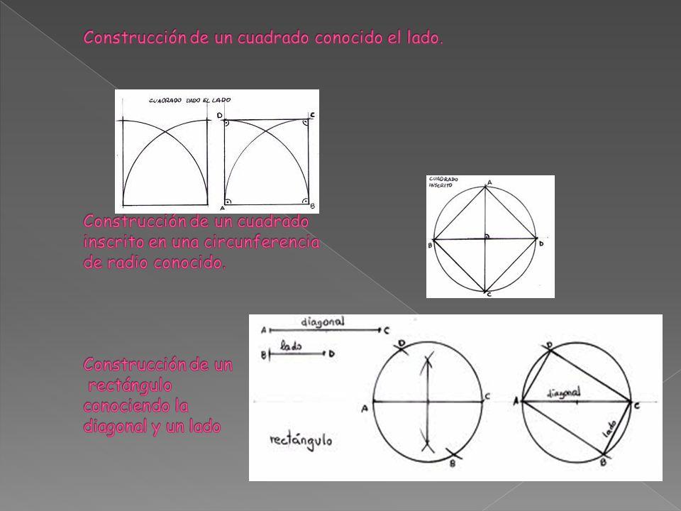 Construcción de un cuadrado conocido el lado