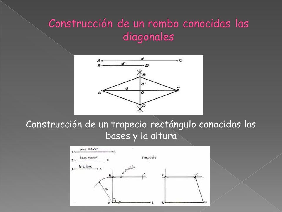 Construcción de un rombo conocidas las diagonales