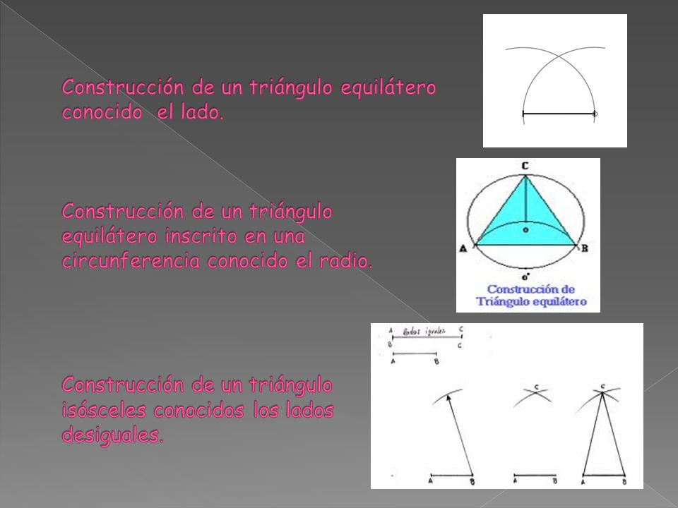 Construcción de un triángulo equilátero conocido el lado