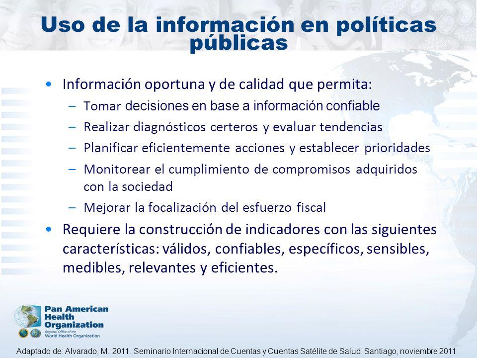 Uso de la información en políticas públicas