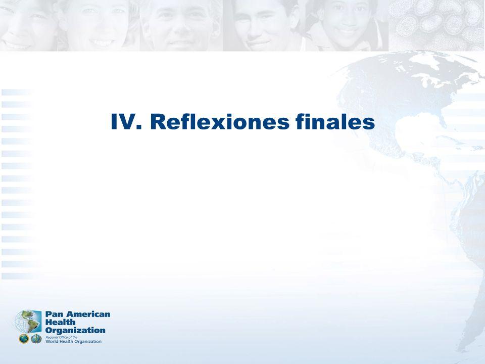 IV. Reflexiones finales
