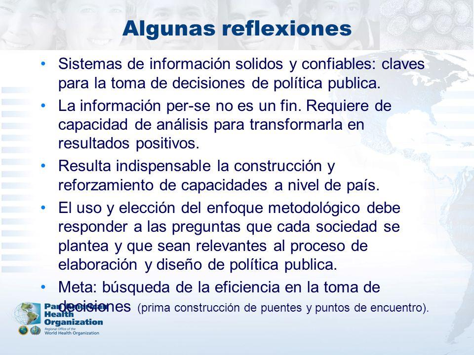 Algunas reflexiones Sistemas de información solidos y confiables: claves para la toma de decisiones de política publica.