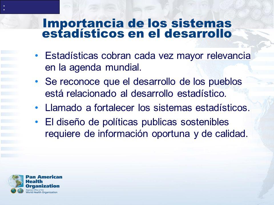 Importancia de los sistemas estadísticos en el desarrollo