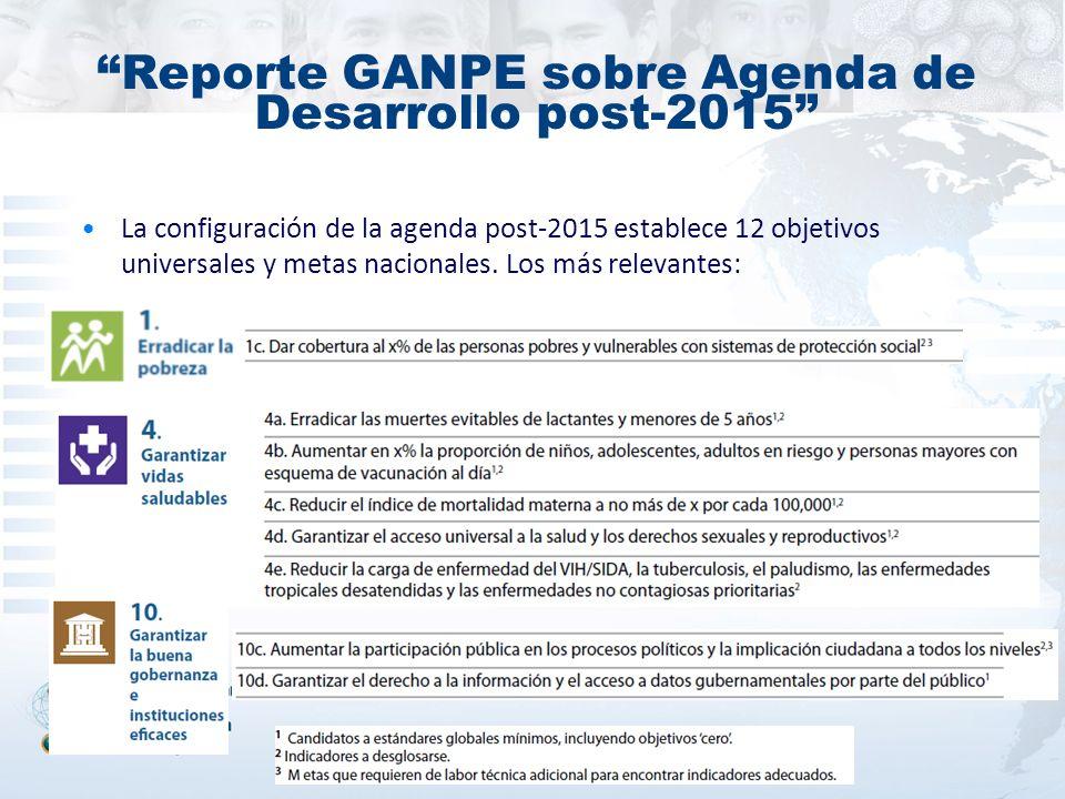 Reporte GANPE sobre Agenda de Desarrollo post-2015