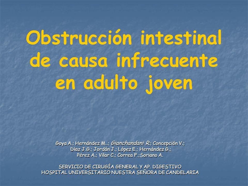 Obstrucción intestinal de causa infrecuente en adulto joven