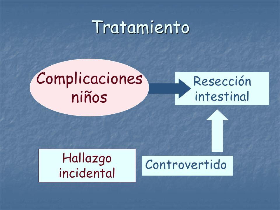 Tratamiento Complicaciones niños Resección intestinal