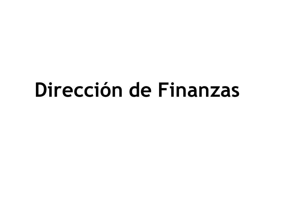 Dirección de Finanzas