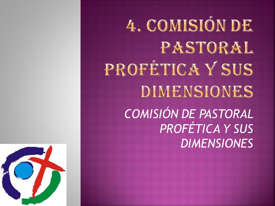 4. COMISIÓN DE PASTORAL PROFÉTICA Y SUS DIMENSIONES