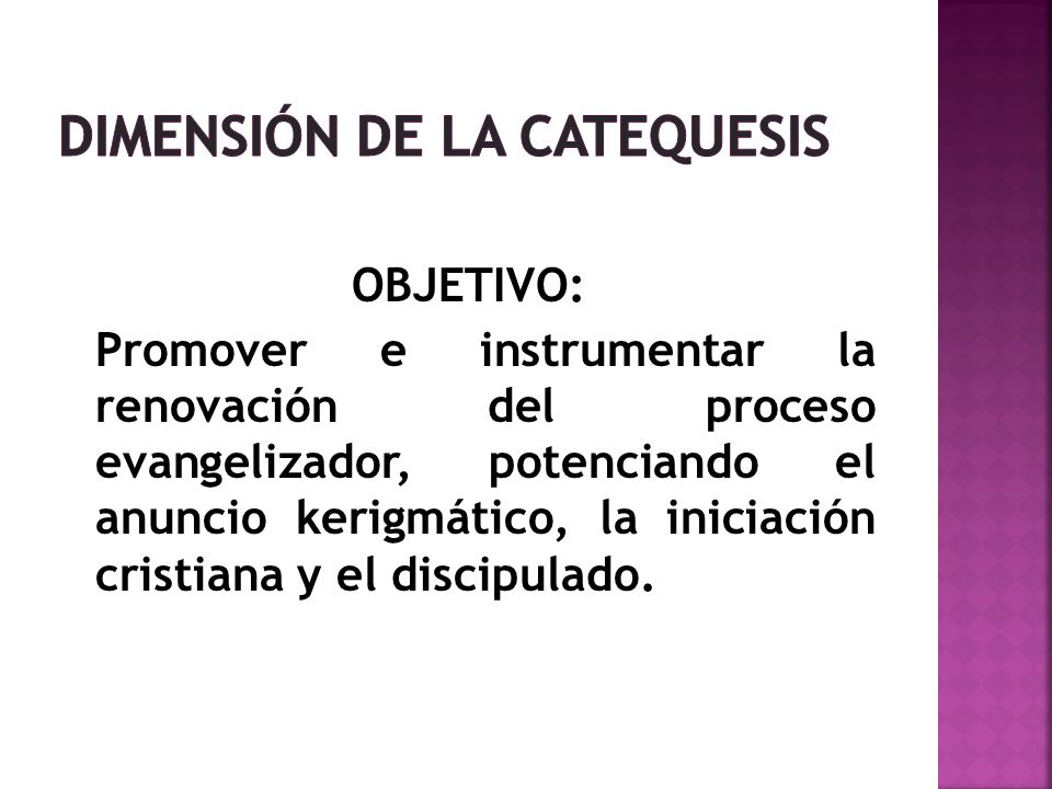 DIMENSIÓN DE LA CATEQUESIS