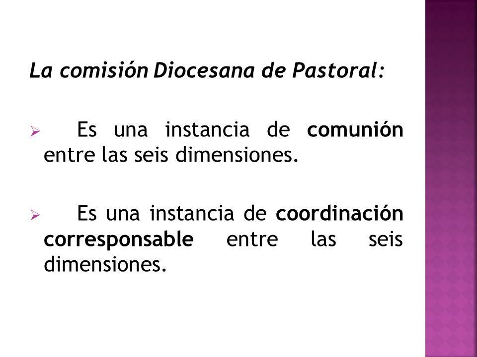 La comisión Diocesana de Pastoral:
