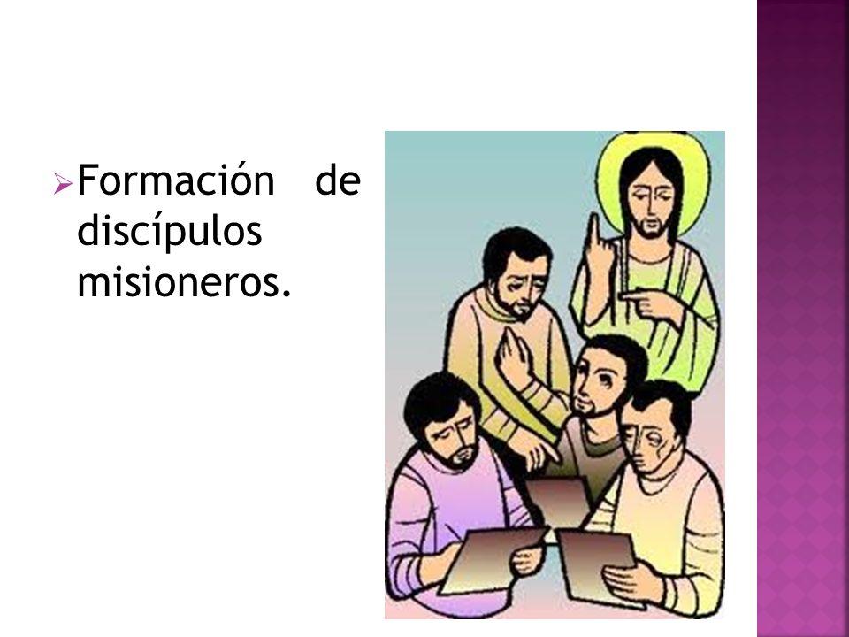 Formación de discípulos misioneros.
