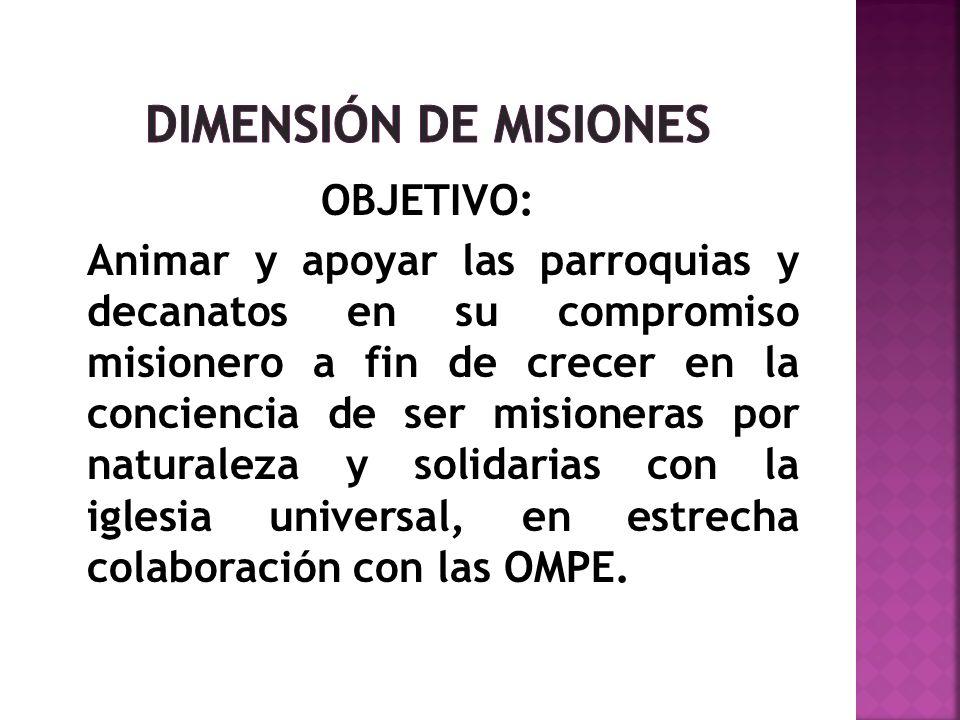 DIMENSIÓN DE MISIONES OBJETIVO: