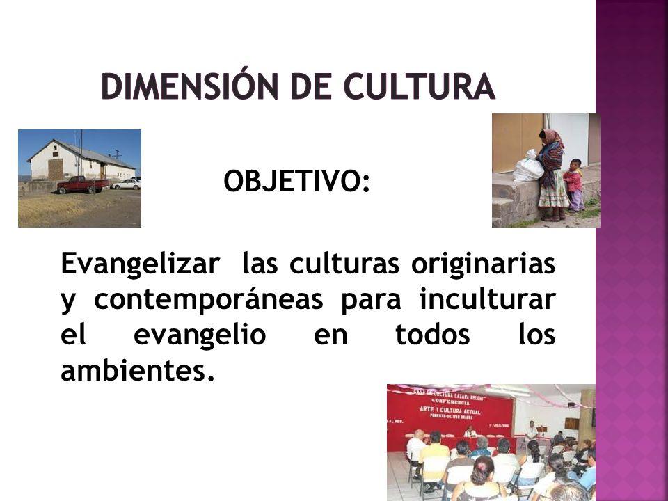 DIMENSIÓN DE CULTURA OBJETIVO: