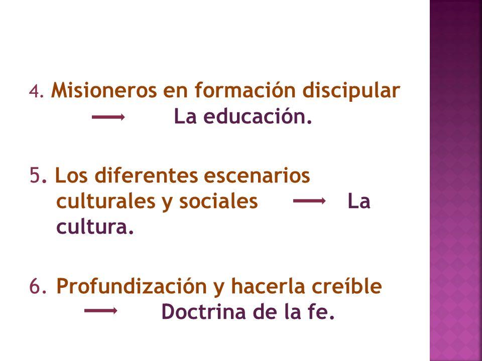 5. Los diferentes escenarios culturales y sociales La cultura.