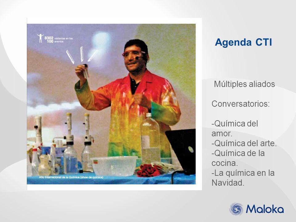 Agenda CTI Múltiples aliados Conversatorios: Química del amor.