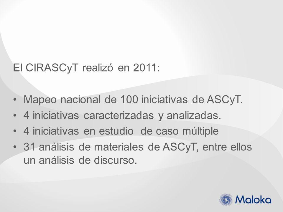 El CIRASCyT realizó en 2011: